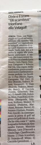 """Cronaca e classifiche di VELAGOLF su """"Nuova Venezia"""" di oggi."""